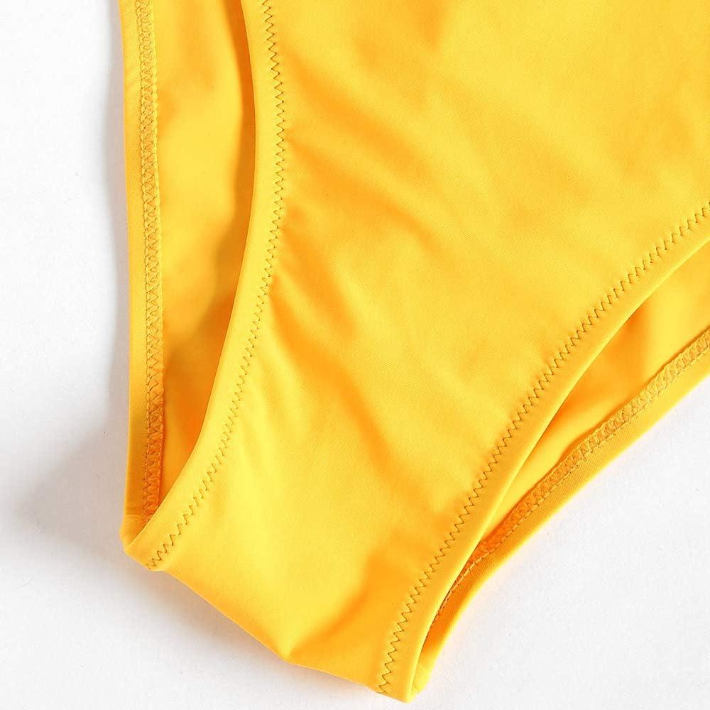 ZAFUL Damen Einteiliger Badeanzug mit Kreuzf/örmiger R/ückenausschnitt Bademode Beachwear