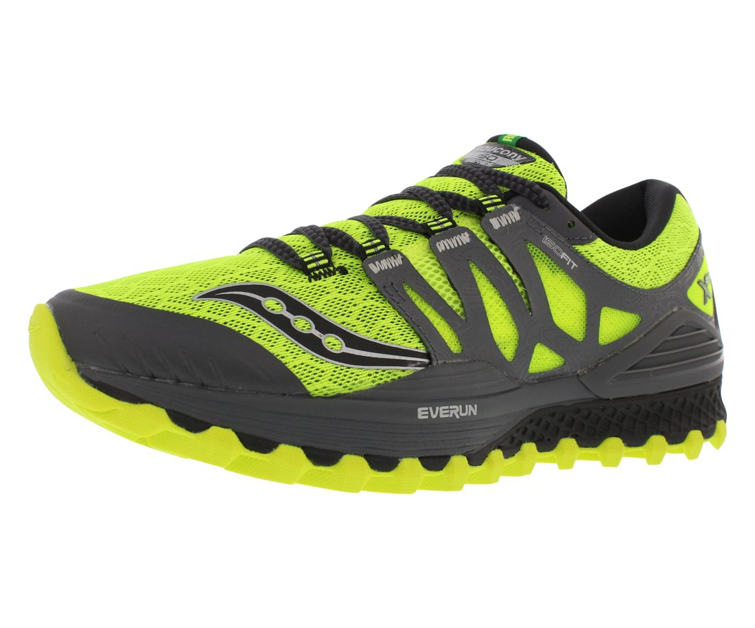 Saucony Men's Xodus Iso Trail Runner, Cotton/Grey, 12 M US