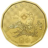 2016 Lucky Loonie, uncirculated coin from mint roll