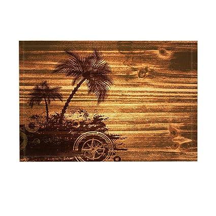 Amazon.com: Yaoni ATT Decor Bath Rug, Sand Painting Sea Island ...