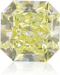 1.35 Carat Fancy Light Yellow Loose Diamond Natural Color Radiant Cut GIA Cert