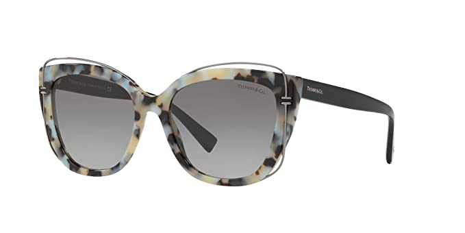 faf0e8e968e3d Image Unavailable. Image not available for. Colour  Tiffany   Co. TF-4148  Cat-Eye Sunglasses for Women ...