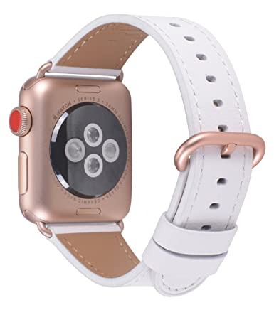 69827ebb7739 JSGJMY Compatible for Iwatch Band 38mm 40mm S M Women Genuine Leather Loop  Replacement Strap