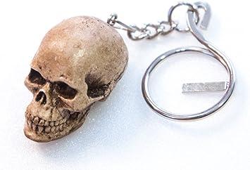 Mini Human Realistic Skull Bone Head Key ring Biker Chopper Handmade Keychain