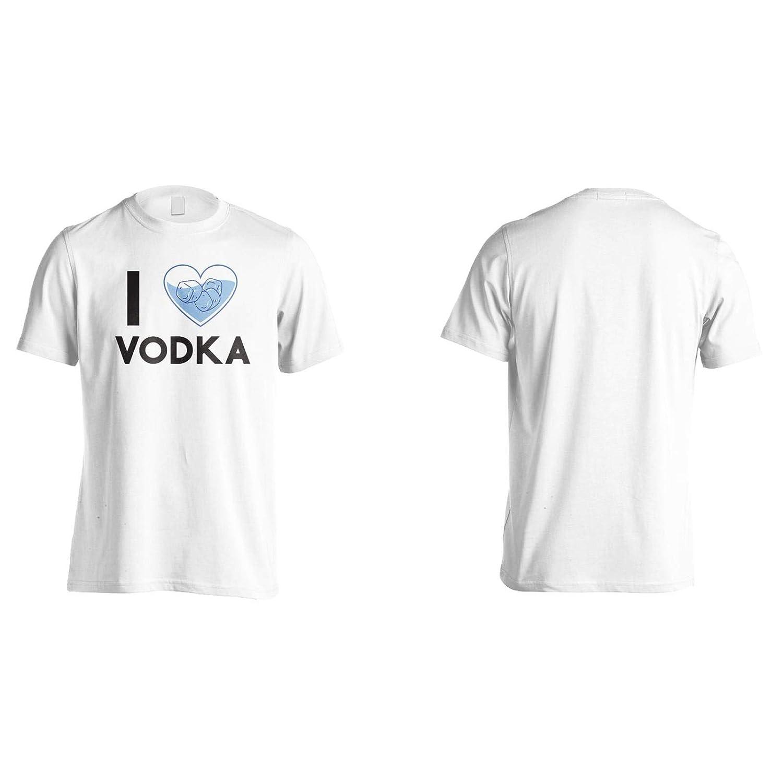 I Love Vodka Mens T-Shirt Tee gg841m