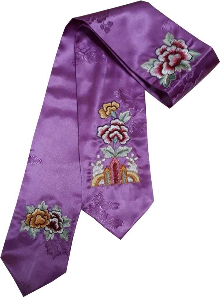 HANBOK DAENGGI PURPLE EMBROIDERY Korean Traditional Hair Accessory daenggi bassi Girls Junior Womans purple