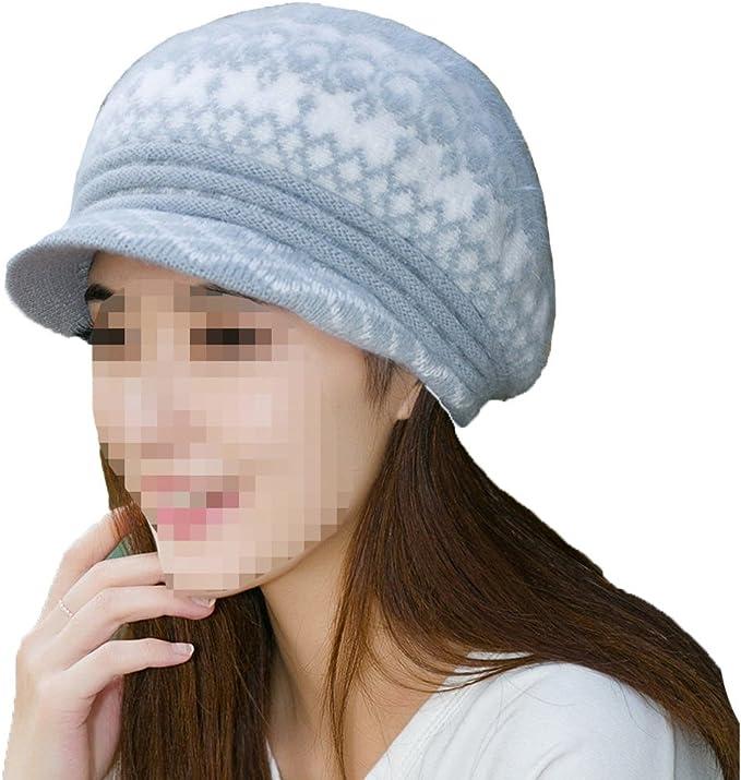 NIAIS Moda Mujeres Gorra De Lana Tejida Gorra Caliente Crochet ...