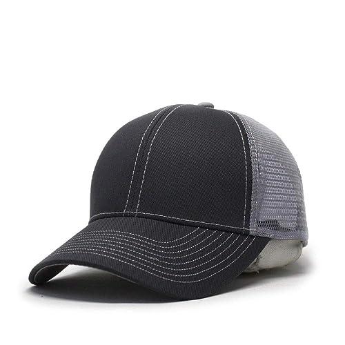best sell 7de43 1d1e1 Vintage Year Plain Two Tone Cotton Twill Mesh  Adjustable Trucker Baseball Cap ... 0f93adbfa2f