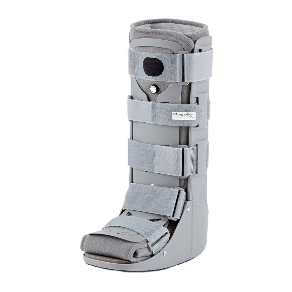 PhysioRoom Air Shield Walker - Pie, Tobillo y Heal Fractura Soporte de compresión, adaptable, transpirable e higiénico Brace con paneles delanteros y traseros extraíbles, ayuda a la rehabilitación y a