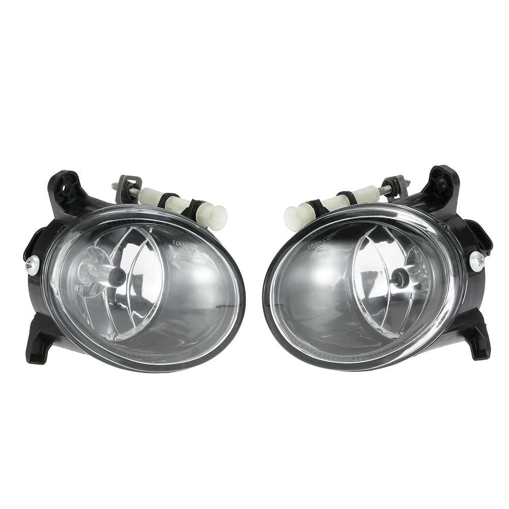 KKmoon 1 Pair Left & Right Front Fog Light Lamp Bulb H11 Replacement Set for AUDI A4 B8 A6 C6 Q5