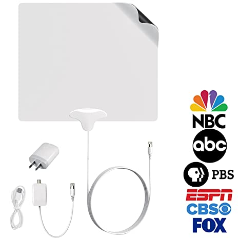 FIVESTAR Indoor Antenna Amplified HD TV 4K up to 100 Mile TV Antenna plus Amplifier Signal