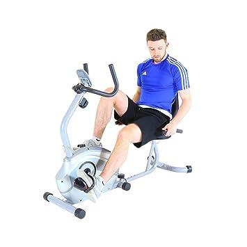 Charles Bentley reclinada de la Bicicleta con 8 Nivel Ajustable Resistencia 4kg del Volante Cardio Entrenamiento - Negro/Plata: Amazon.es: Deportes y aire ...