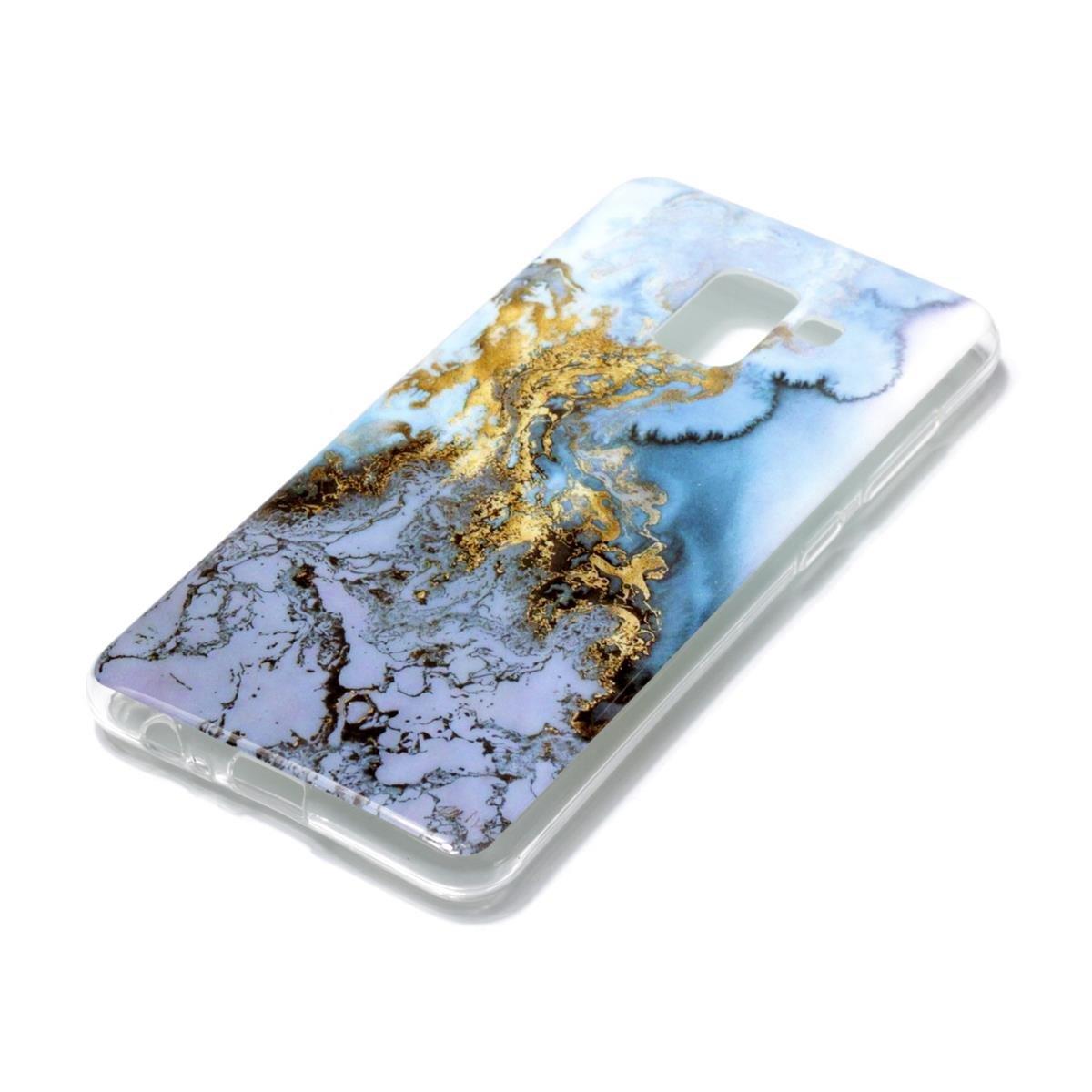 Glaciar Azul A5 2018,Premium Elegante patr/ón de m/ármol TPU Suave Silic/ón Gel de Alta Resistencia y Flexibilidad Protectora Suave Caso OnlyCase Funda para Samsung Galaxy A8 2018