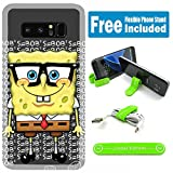 [Ashely Cases] For Samsung Galaxy Note 8 Cover Case Skin with Flexible Phone Stand - Spongebob Nerd G