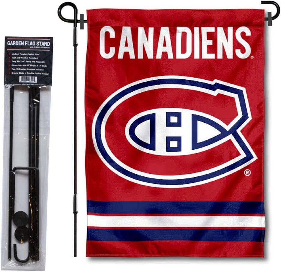 WinCraft Montreal Canadiens Garden Flag with Pole Stand Holder