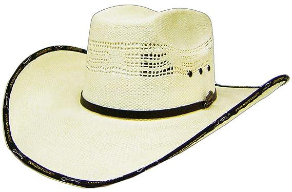 Modestone 4X 8 Seconds Bangora Straw Cowboy Hat 54   Sizes for Small ... 02bedafa7fa