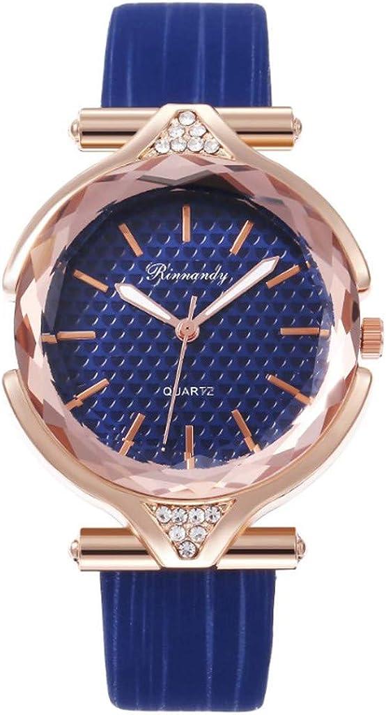 Yivise Mujeres Niñas Reloj Elegante Cinturón de Cuero Moda Estudiante Reloj de Pulsera de Cuarzo analógico