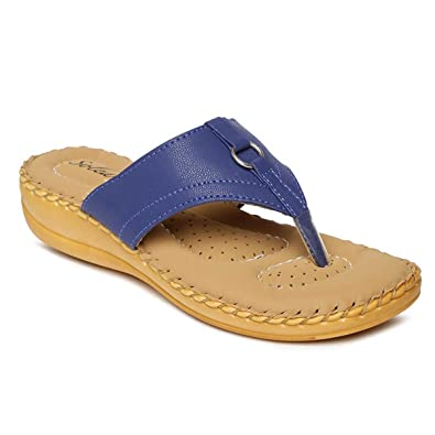 db4cc767d7ac PARAGON SOLEA Plus Women s Blue Flip-Flops  Buy Online at Low Prices ...