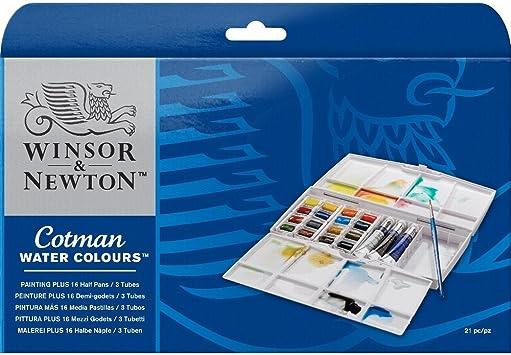 Winsor & Newton - Acuarela Cotman - Caja pintura con pastillas, 12 ...