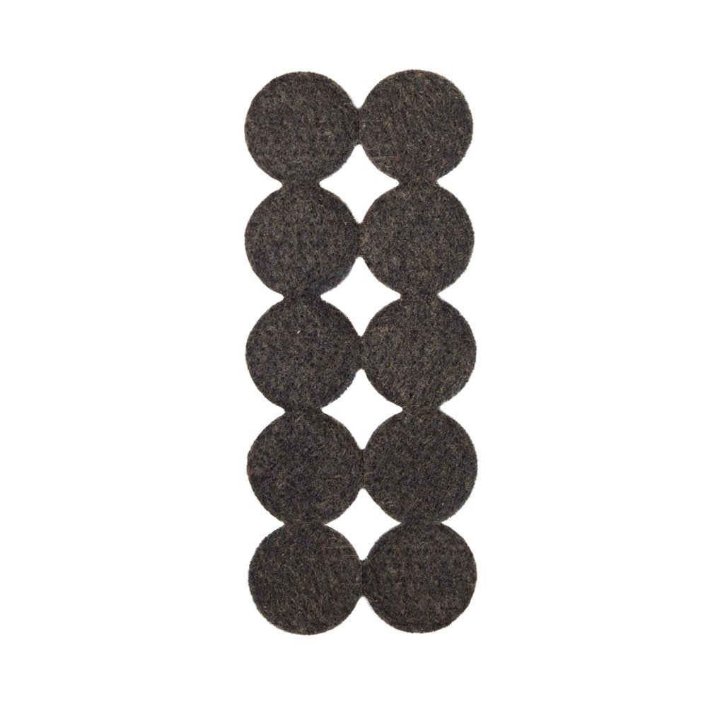 Brown 3/4'' Diameter Heavy Duty Felt Pads - 1000 Pcs (10 pcs/pad) by The Felt Store (Image #1)