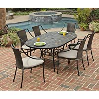 Home Styles 5601-338 Stone Harbor 7-Piece Dining Set with Table and Laguna Arm Chairs