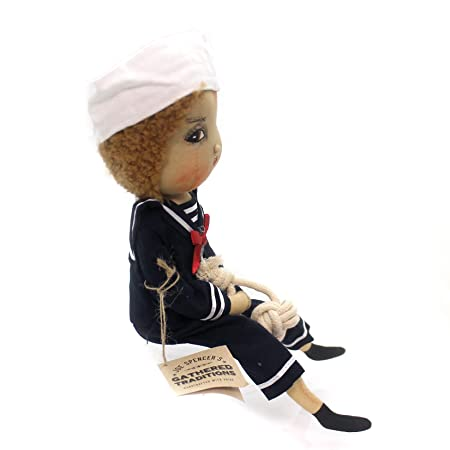 GALLERIE II Avery Sailor Boy Joe Spencer Gathered Traditions Art Doll Multicolor