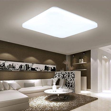 HENGMEI 48W Lámpara de techo LED Ultradelgado Plafón de techo Blanco frio LED Integrado Iluminación Interior para Pasillo Salón Cocina Dormitorio