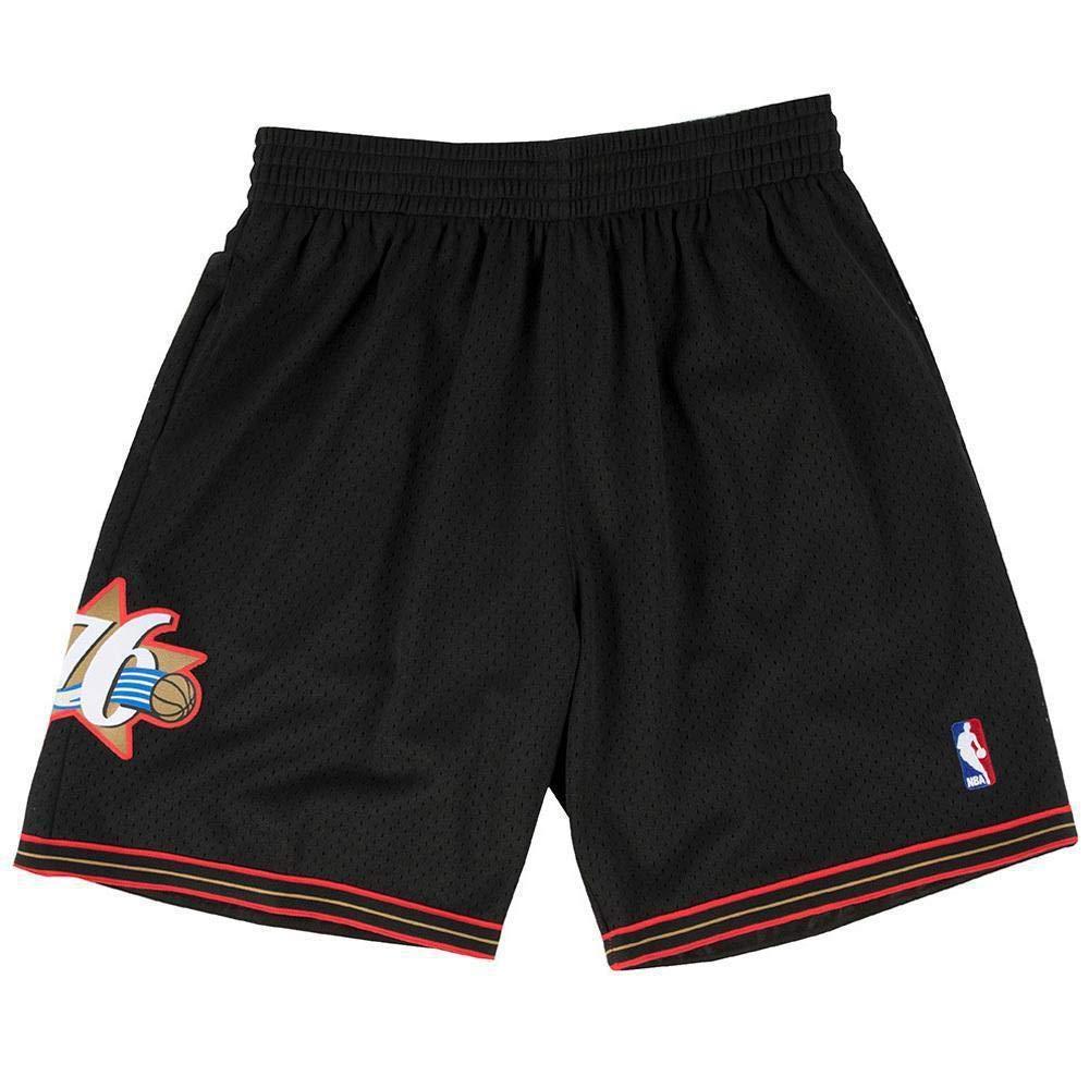fb04f412 Mitchell & Ness Philadelphia 76ers 2000-2001 Swingman NBA Shorts Black:  Amazon.co.uk: Sports & Outdoors