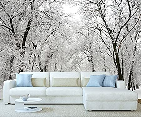 Stickerswall Winter Wonderland Snow Forest Trees Landscape Scenery