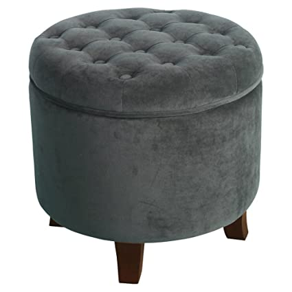 hot sale online 149ee de825 HomePop Round Storage Ottoman