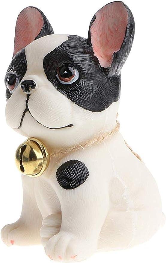 HTRN Figurines para jardín Animales para jardín Inicio DIY Resina Decorativa Animal Bulldog Auto Interior Adorno Accesorios punteados: Amazon.es: Hogar