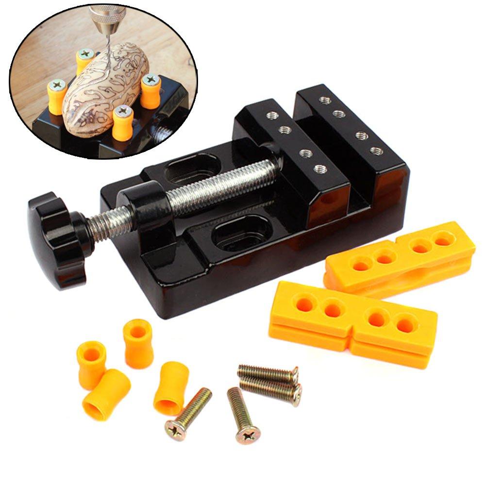 Alftek Universal Mini Bank Schraubstock Clamp Aluminiumlegierung Nussbaum Nuss Clip Schmuck Zangen Tischzange Carving Feste Werkzeuge