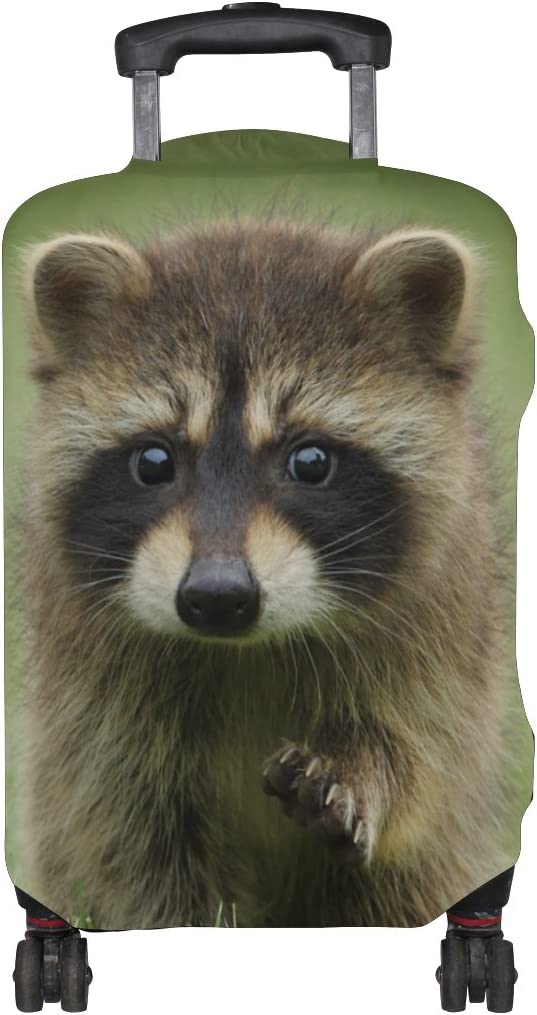 LEISISI Cute Raccoon Luggage Cover Elastic Protector Fits XL 29-32 inch Suitcase