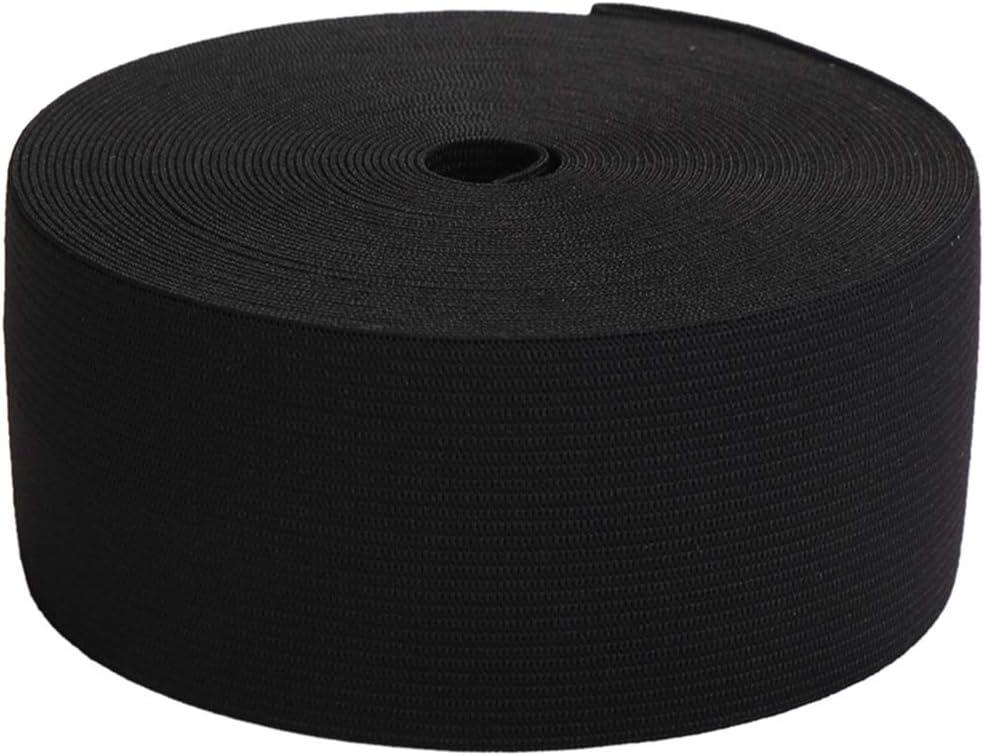 Knit Elastic Bands for Sewing White Heavy Stretch High Elasticity Flat Elastic Cord 2-1//3 Inch Wide Braided Elastic Spool 5 Yard