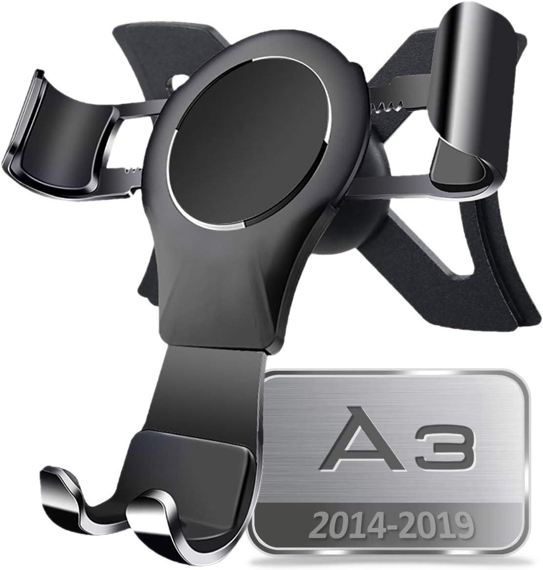 Magnet Schwarz A3 Handyhalterung S3 Handyhalterung Starker Magnet Stabil 360/° Drehung H/ände Frei Einfache Montage A3 Zubeh/ör A3 8V Zubeh/ör 2016 2017 AYADA Handyhalterung f/ür Audi A3 8V S3 RS3 8V