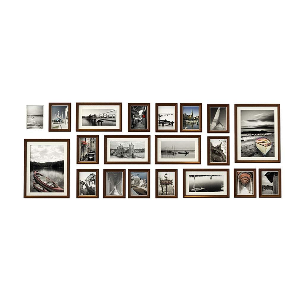 Unbekannt Deko fürs Babyzimmer Wand-Wand-Wand der Fotowandwohnzimmer-Massivholzfoto-Wanddekoration europäischen fotorahmen Fotorahmenwand-hängenden Wand-Satz-Wand Wohnaccessoires & Deko