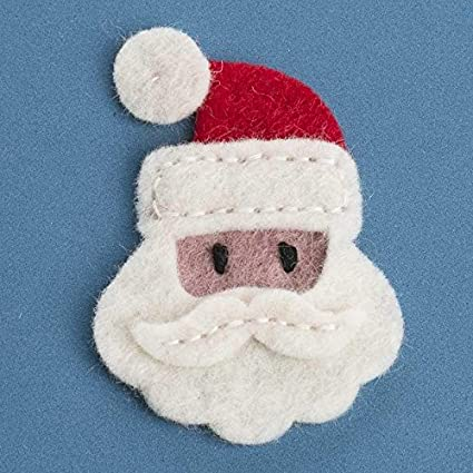 Amazon Factory Direct Craft Group Of 6 Santa Face 100 Wool