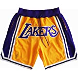 cheere Mens Lakers Basketball Stitched Shorts Pants