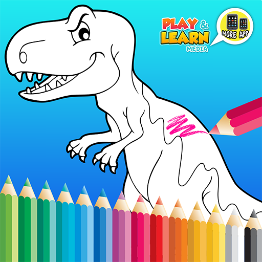 Dinosaurios-color y aprender colores de pintura de papel LIBRO COLORACIÓN