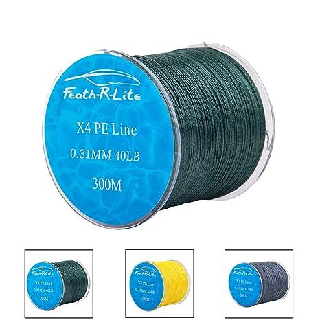 Tuxedo Sailor Braided Fishing Line,100% 4 Strands PE Fishing Lines 8lb-80LB Superline Abrasion Resistant 3M Braid Lines Multiple Color