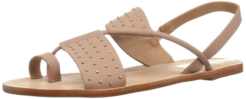 Nude 42 EU KAANAS Damen Sao Paulo Studded Flat Leather Flache Sandale