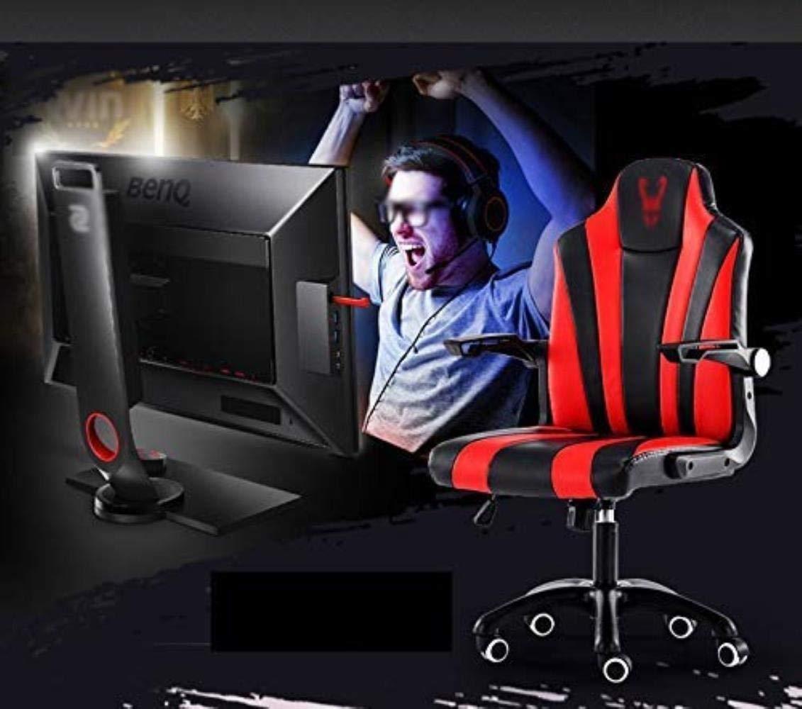 Skrivbordsstolar kontorsstol datorstol hemstol ergonomisk baksida kontorsstol, svängbar stol spelkontor (färg: Röd) Röd