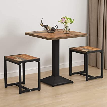 Amazon Com Tribesigns 3 Piece Small Dining Table Set