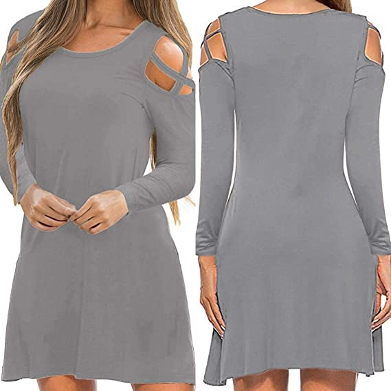 POLP Vestidos Cortos Mujer ◉ω◉ Tallas Grandes Vestidos 494900a671e8