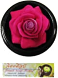 """Jittasil Thai Hand-Carved Soap Flower, 4"""" Scented Soap Carving, Rose In Decorative Wood Case"""