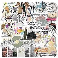 XXCKA 50 Piezas Taylor Swift álbum Folklore Evermore Pegatina Equipaje Trolley Funda portátil Impermeable