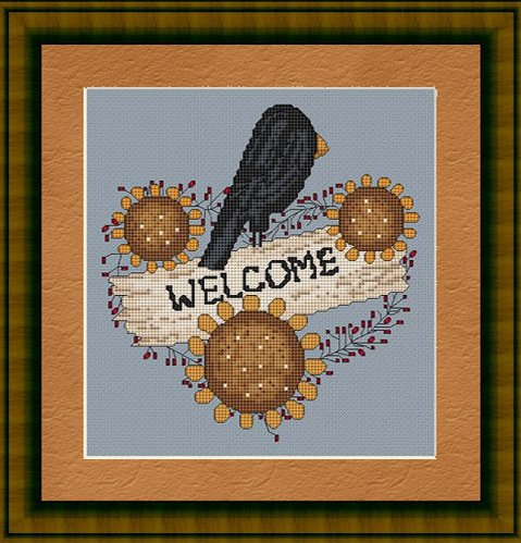 Sunflower Welcome Cross Stitch Pattern (Welcome Counted Cross Stitch Pattern)