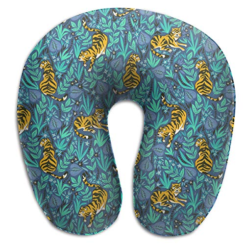 Giinly Tigers in The Jungle U Type Travel Neck Pillows Super Soft Cervical Comfortable Pillows with Resilient ()
