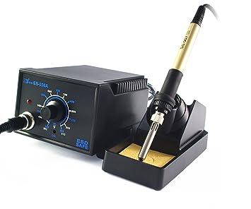 KS936A Estación de Soldadura con Temperatura Regulable, 50W de Potencia, Kit Soldador Eléctrico SMD: Amazon.es: Bricolaje y herramientas
