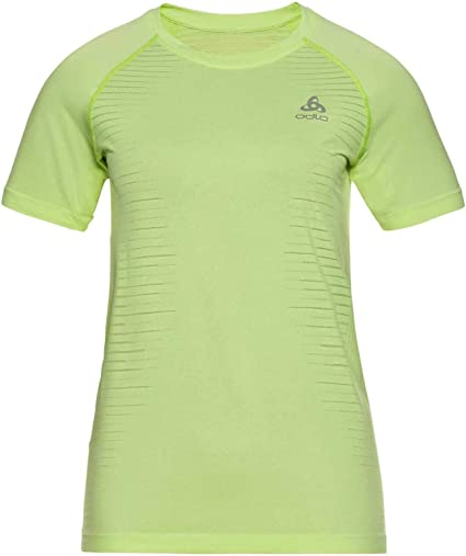 Odlo T-Shirt S/S Crew Neck Seamless Element - Camiseta. Mujer: Amazon.es: Deportes y aire libre